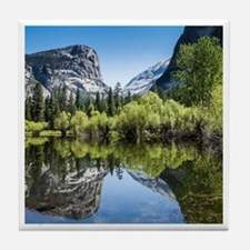 Mirror Lake in Yosemite Tile Coaster