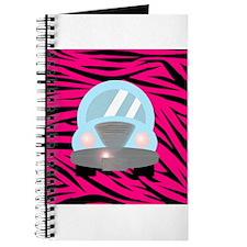Blue Car on Hot Pink Zebra Stripes Journal