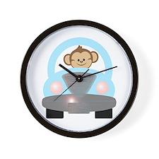 Monkey Driving a Car Wall Clock