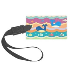 Cute Whales Luggage Tag