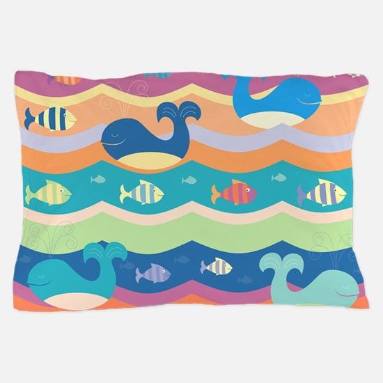 Cute Whales Pillow Case