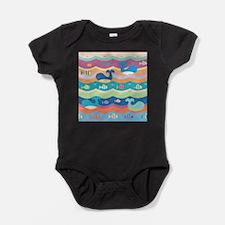Cute Whales Baby Bodysuit