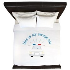 This Is My Second Car King Duvet
