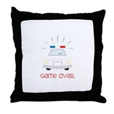 Game Over. Throw Pillow