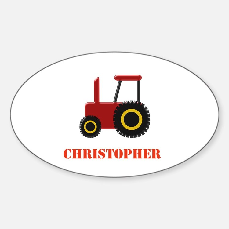 Personalised Red Tractor Decal