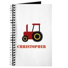 Personalised Red Tractor Journal