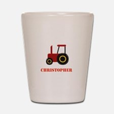 Personalised Red Tractor Shot Glass