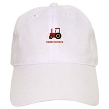 Personalised Red Tractor Cap
