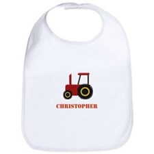 Personalised Red Tractor Bib