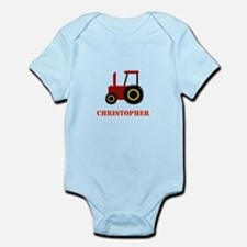 Personalised Red Tractor Body Suit