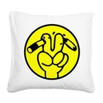 Funny Anti Smoking Sign Square Canvas Pillow