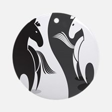 Yin Yang Horses Ornament (Round)