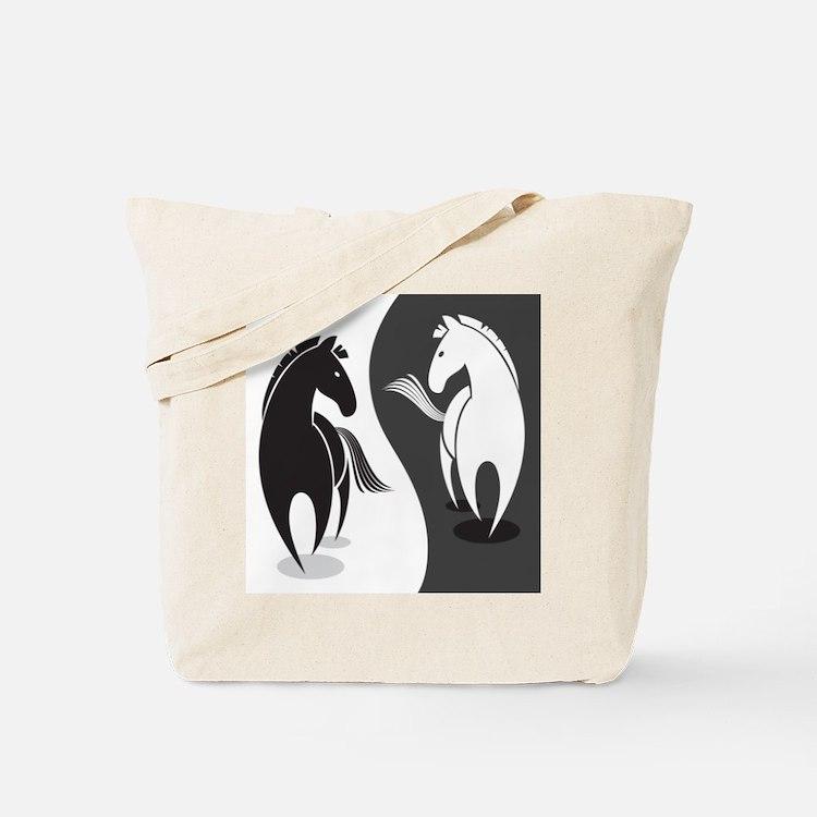 Yin Yang Horses Tote Bag