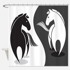 Yin Yang Horses Shower Curtain