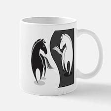 Yin Yang Horses Mugs