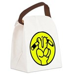 Funny Anti Smoking Sign Canvas Lunch Bag