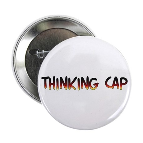 """Thinking cap 2.25"""" Button (100 pack)"""