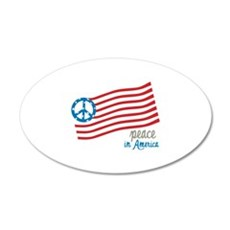 Peace In America 20x12 Oval Wall Decal