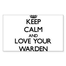 Keep Calm and Love your Warden Decal