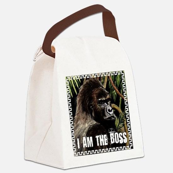 gorilla i am the boss Canvas Lunch Bag
