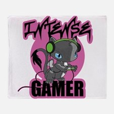 Intense Gamer Throw Blanket