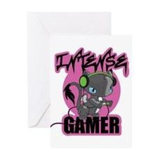 Intense Gamer Greeting Cards