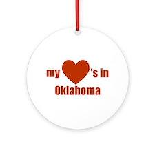 Oklahoma Ornament (Round)