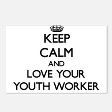 Keep Calm and Love your Youth Worker Postcards (Pa