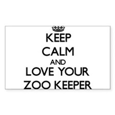 Keep Calm and Love your Zoo Keeper Decal