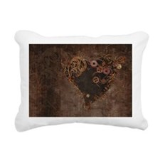 Steampunk Heart Rectangular Canvas Pillow