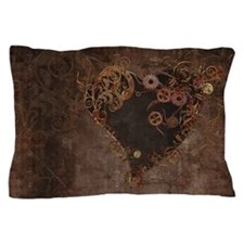 Steampunk Heart Pillow Case