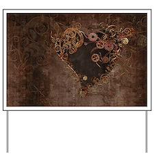 Steampunk Heart Yard Sign