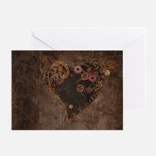 Steampunk Heart Greeting Cards