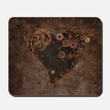 Steampunk Heart Mousepad