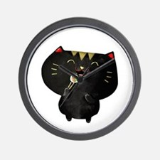 Black Sushi Cat Wall Clock