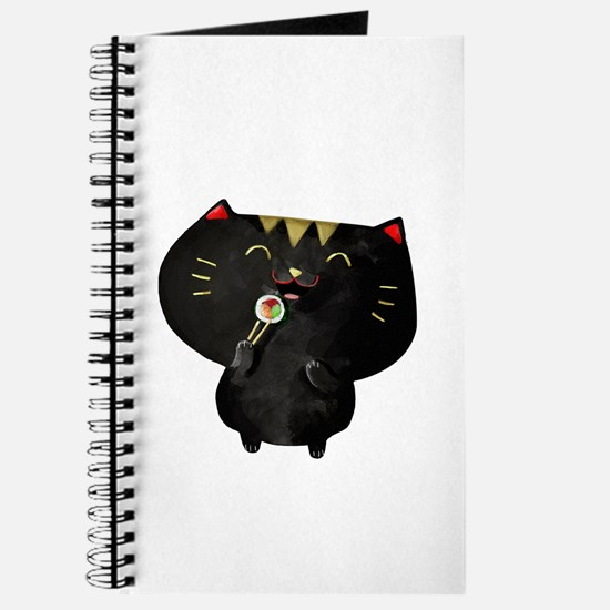 Black Sushi Cat Journal