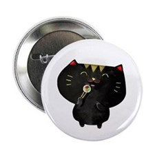 "Black Sushi Cat 2.25"" Button"