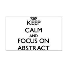 Keep Calm And Focus On Abstract Wall Decal