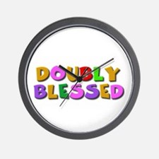 Doubly blessed Wall Clock