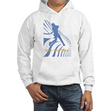 Personalize Sport Blue Baseball Logo Hoodie