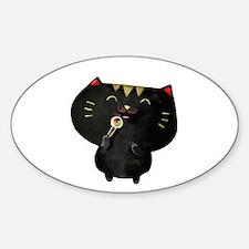 Black Sushi Cat Decal
