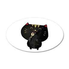 Black Sushi Cat Wall Decal
