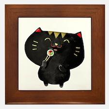 Black Sushi Cat Framed Tile
