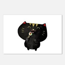 Black Sushi Cat Postcards (Package of 8)