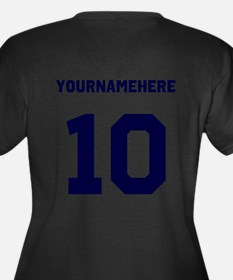 Custom Soccer T-Shirt with name and nombers Plus S