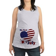 First 4th.png Maternity Tank Top