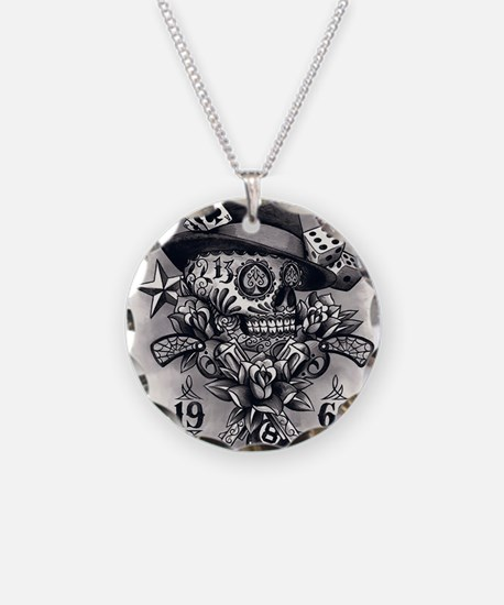 Tattooed Necklace Circle Charm