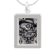 Tattooed Silver Portrait Necklace