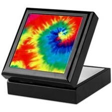 Psychedelic Tie Dye Pattern Keepsake Box