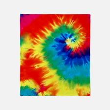 Psychedelic Tie Dye Pattern Throw Blanket